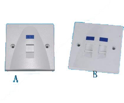 111314. Wall Plate 1 port / 2 port
