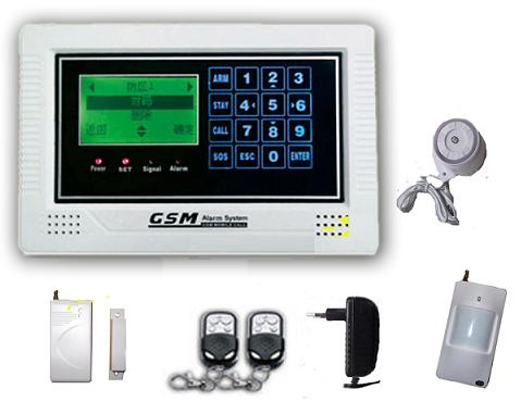 131207. LCD display GSM alarm system with touch keypad