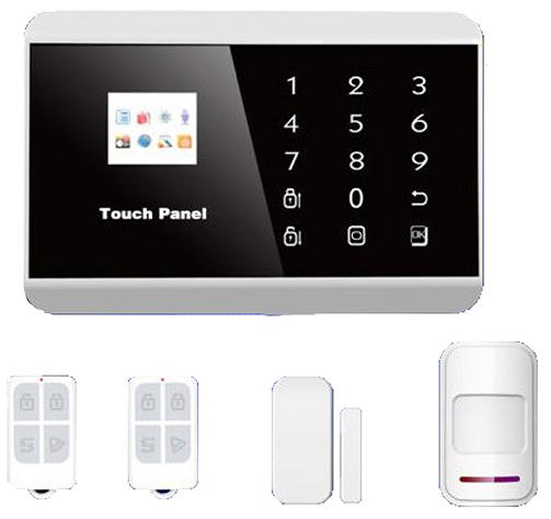 131209. Touch Keypad TFT Color Display GSM&PSTN burglar alarm system