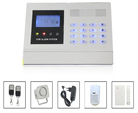 131213. LCD display GSM alarm system