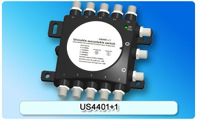 150601. US4401+1 Unicable cascadable switch, 2 In Series