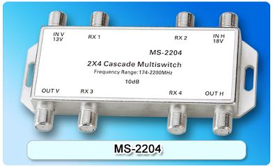150602. MS-2204 2X4 Cascade Multi switch, 2 In Series