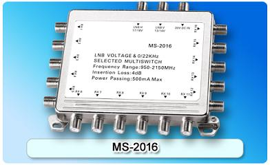 150609. MS-2016 2 in 16 Multiswitch, 2 In Series