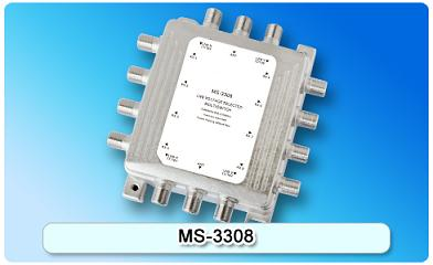 150614. MS-3308 3 in 8 Multiswitch, 3 In Series