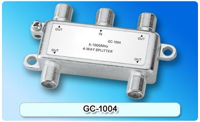 151403. GC-1004 5-1000MHz 4-way Splitter