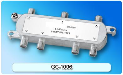 151404. GC-1006 5-1000MHz 6-way Splitter