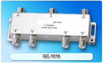 151409. GC-1016 5-1000MHz 6-way Splitter