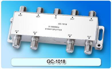 151410. GC-1018 5-1000MHz 8-way Splitter