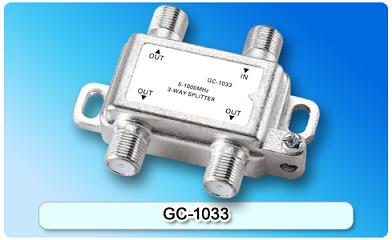 151412. GC-1033 5-1000MHz 3-way Splitter