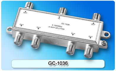 151414. GC-1036 5-1000MHz 6-way Splitter