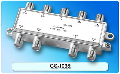 151415. GC-1038 5-1000MHz 8-way Splitter
